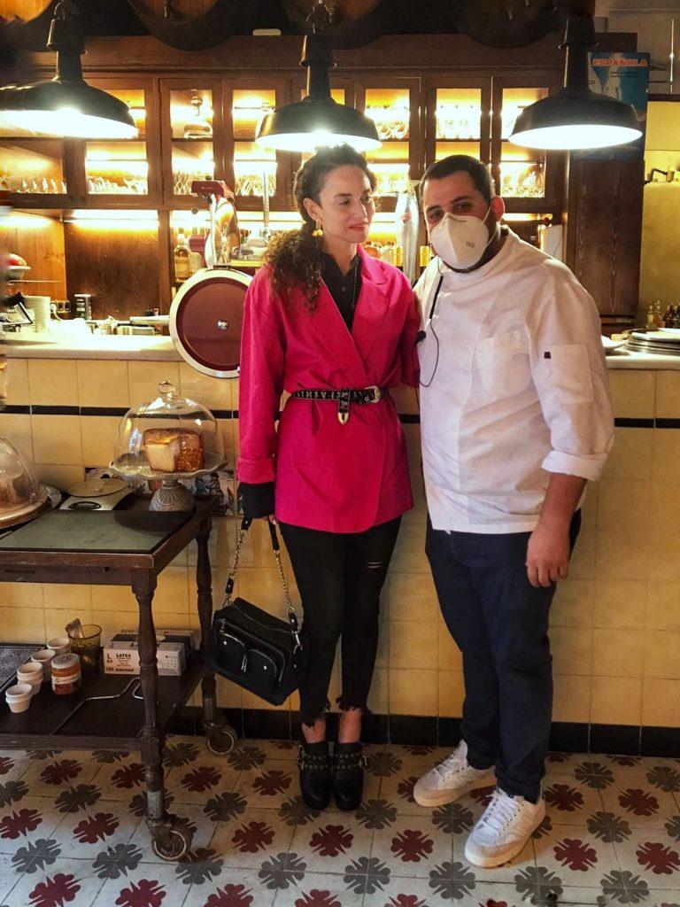 Clara De Nadal Trias con el Chef Carlos Allué
